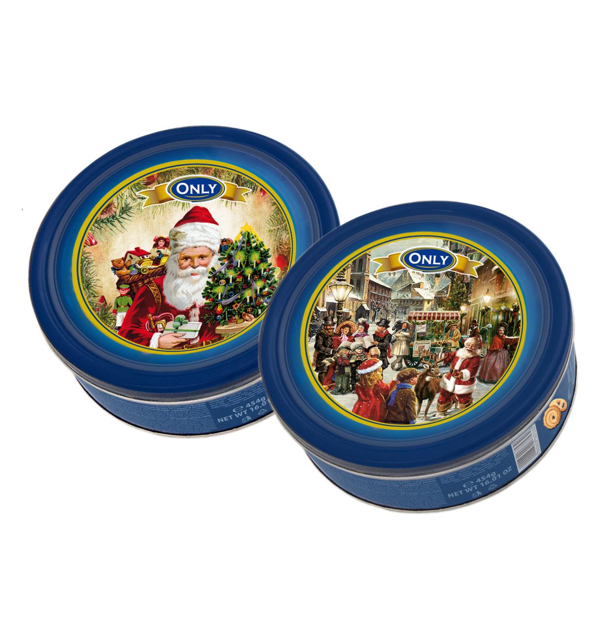Gunz Butter Cookies Christmas Tin Mixed Box Nostalgic 454g