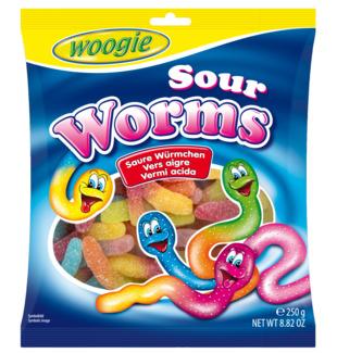 gunz sour worms 250g